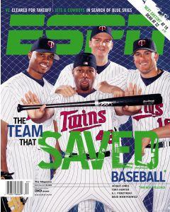 September 30, 2002 - Jacque Jones, Torii Hunter, A.J. Pierzynski, Doug Mientkiewicz
