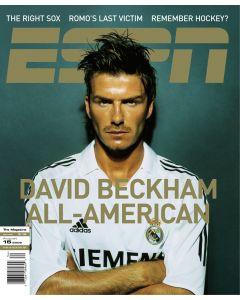 August 15, 2005 - Real Madrid; La Liga; David Beckham