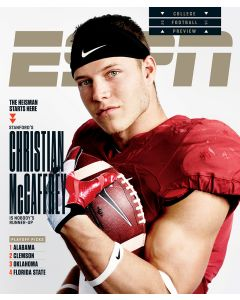 August 22, 2016, Christian McCaffrey
